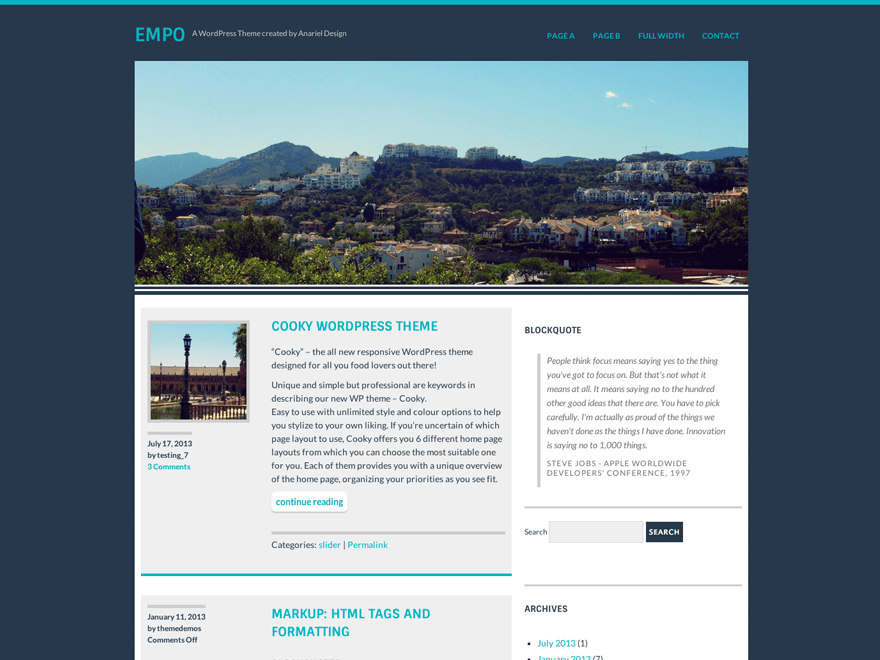 Empo free wordpress theme