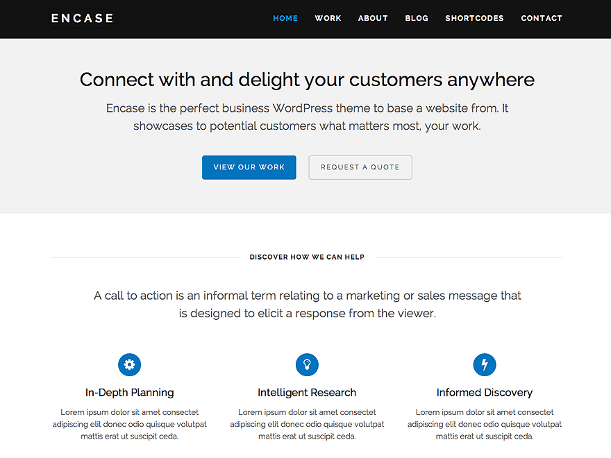 Encase free wordpress theme
