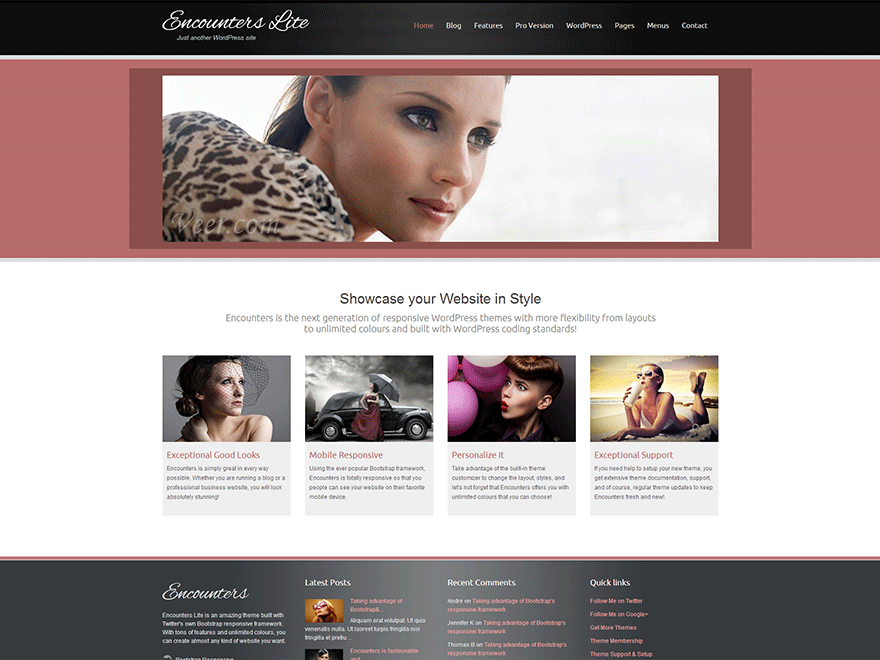 Encounters Lite free wordpress theme