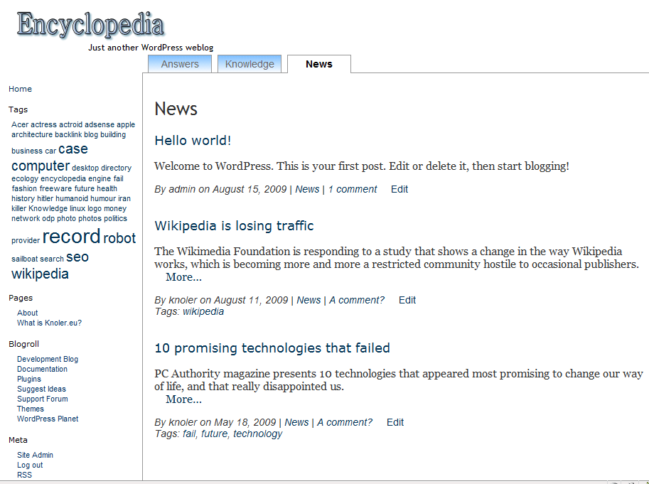 Encyclopedia free wordpress theme