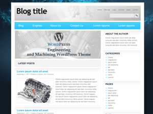 Engineering and Machinering free wordpress theme