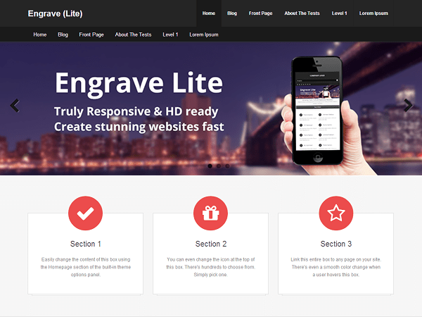 Engrave (Lite) free wordpress theme