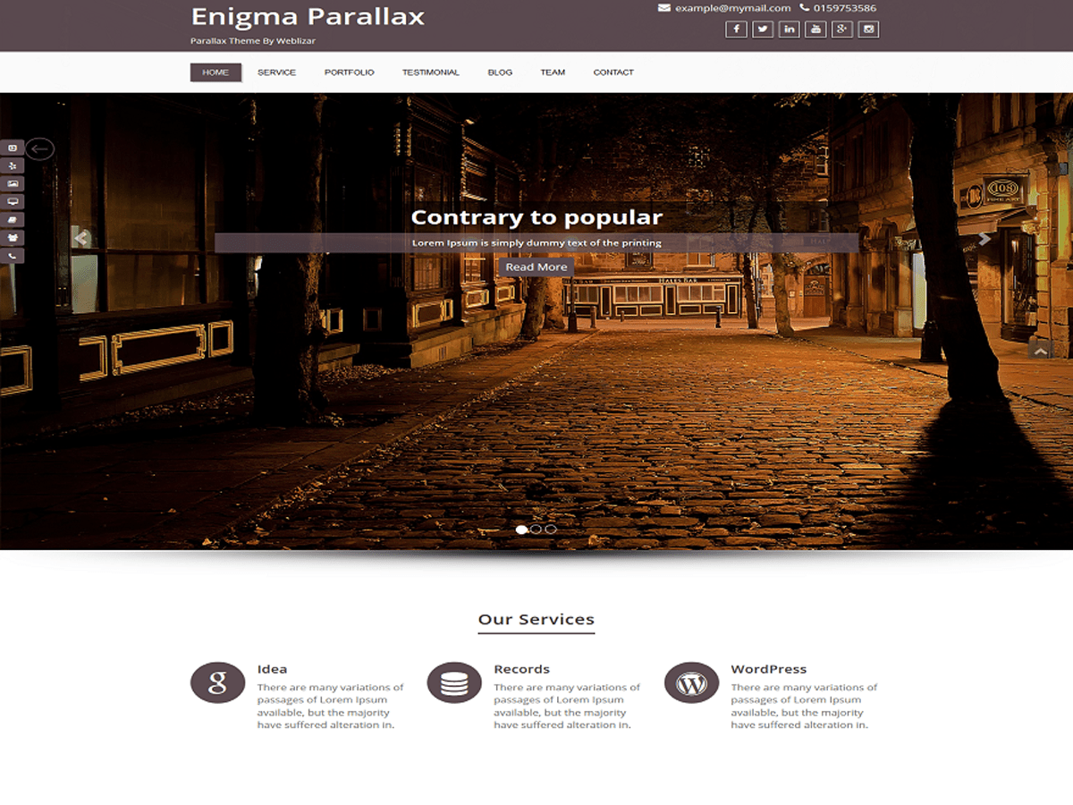 Enigma-parallax free wordpress theme