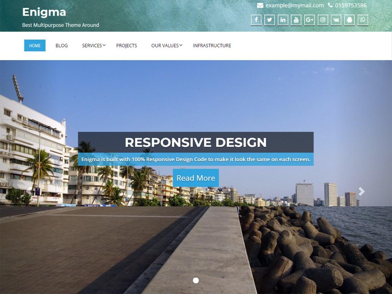 Enigma — Free WordPress Themes