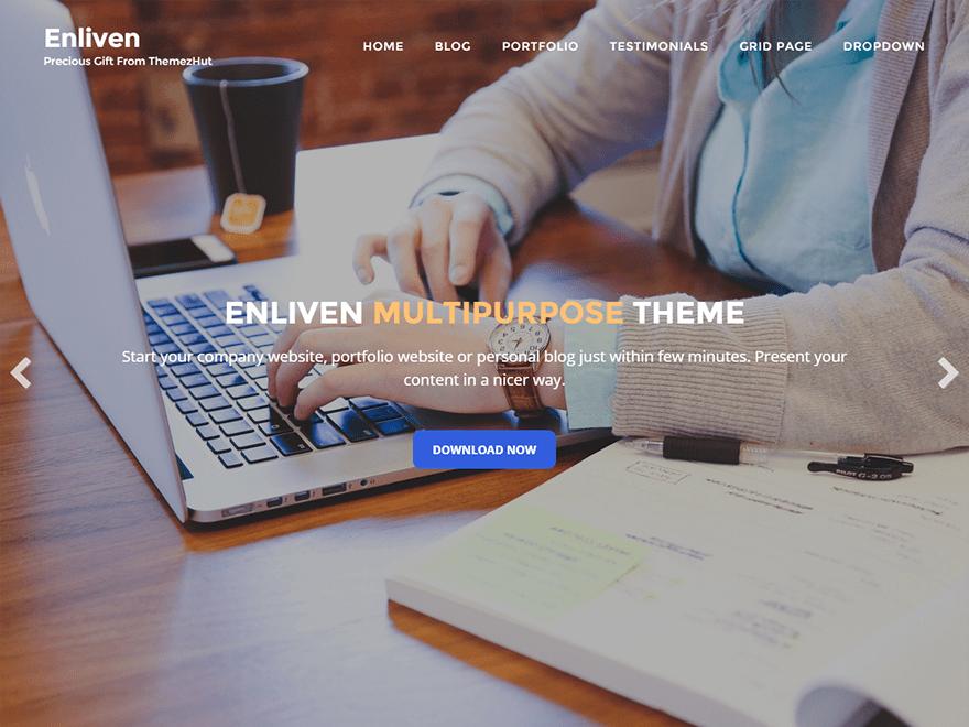 Enliven free wordpress theme