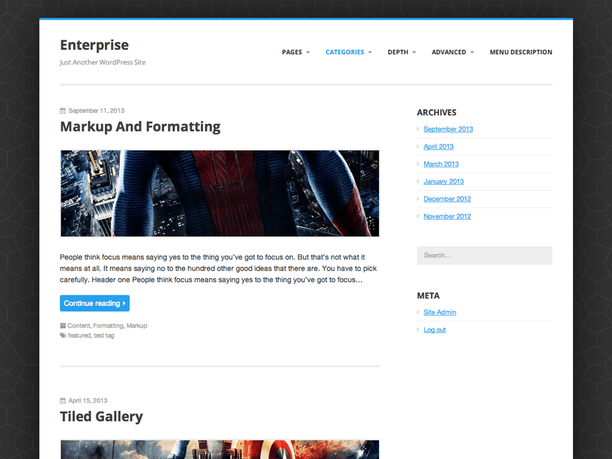 Enterprise Lite free wordpress theme