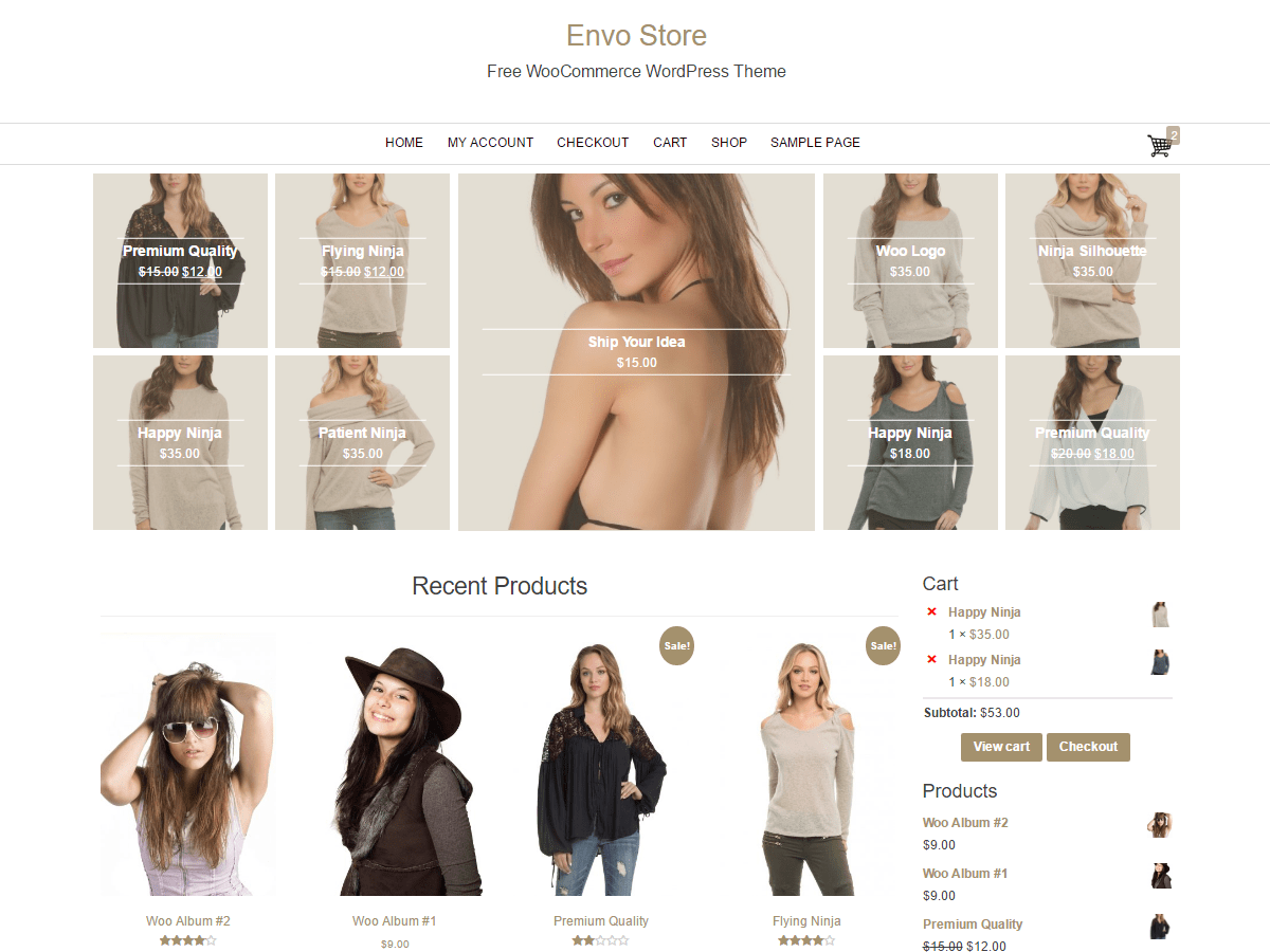 Easy Commerce Free WordPress Theme