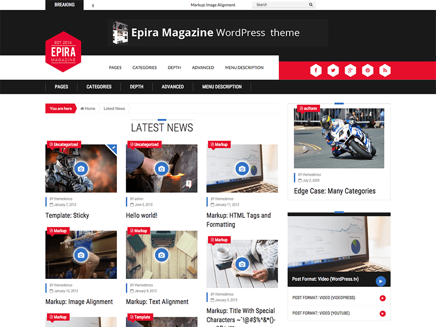 Epira Lite free wordpress theme