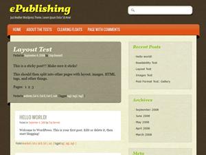 ePublishing wordpress theme