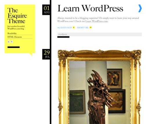 Esquire wordpress theme