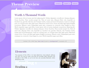 Esther Artistic free wordpress theme