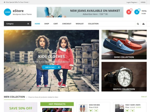 eStore WooCommerce WordPress Theme