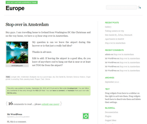 Europe free wordpress theme
