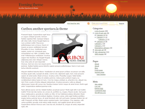 Evening Sun free wordpress theme