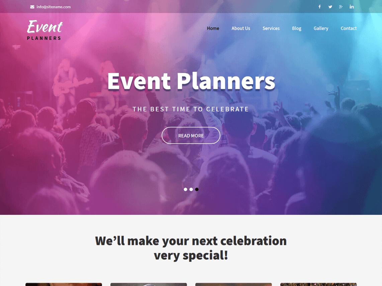 Event Planners - WordPress theme   WordPress org