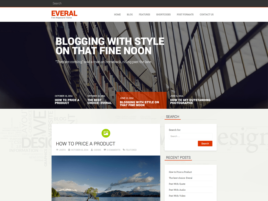 Everal free wordpress theme