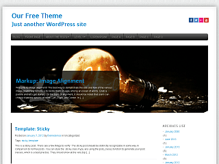 Eviro free wordpress theme