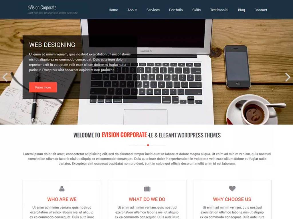Evision Corporate Wordpress