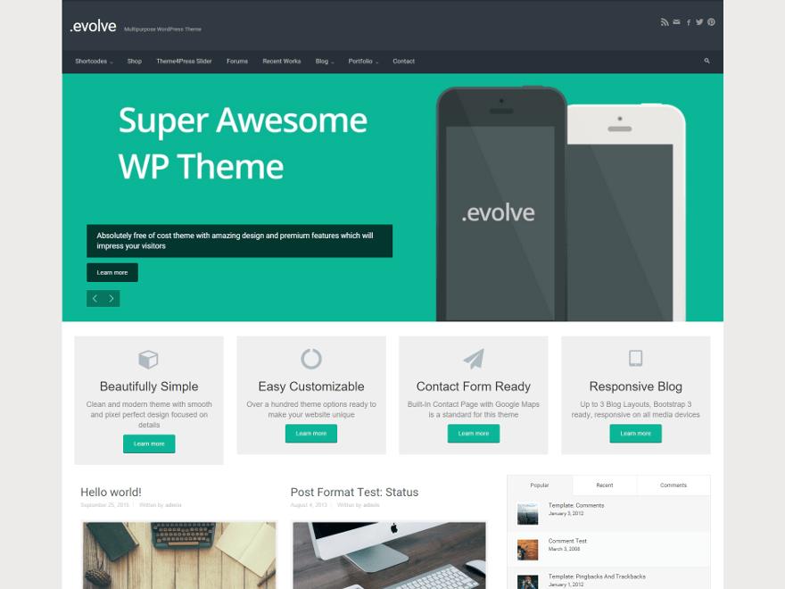 Wordpress Evolve