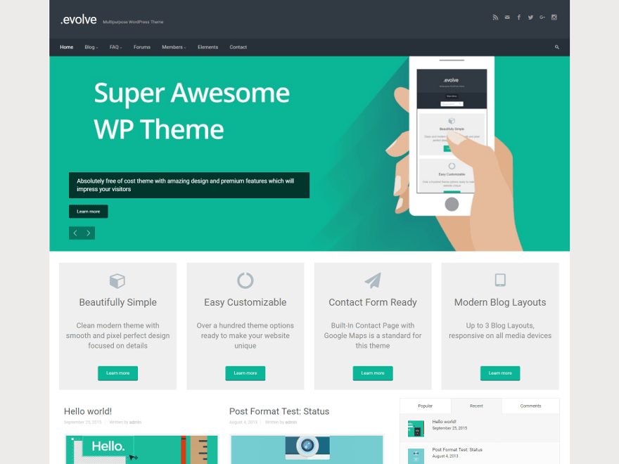 evolve theme child theme download free - wordpress child theme Generator