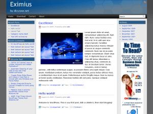 Eximius free wordpress theme