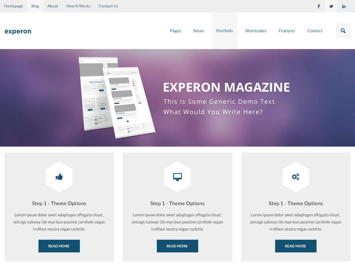 WordPress主题:Experon Magazine