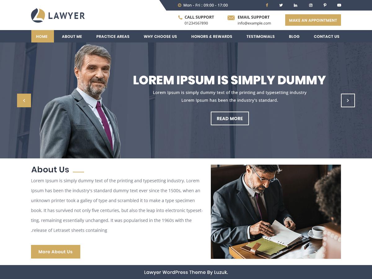 WordPress主题:Expert Lawyer