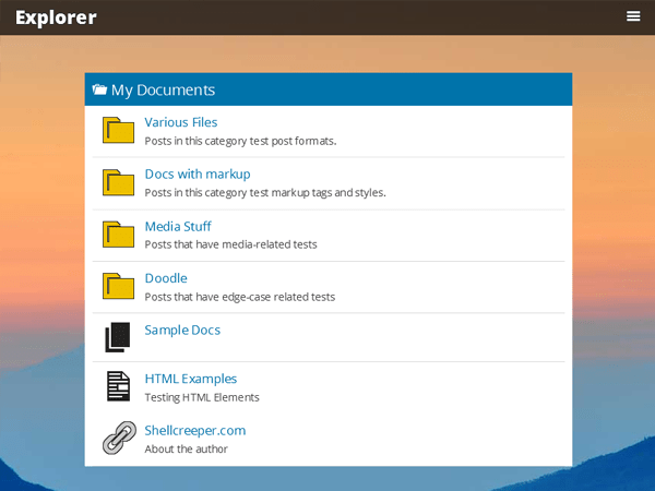 Explorer free wordpress theme