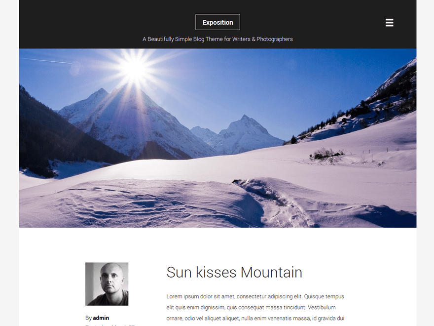 Exposition-Lite free wordpress theme