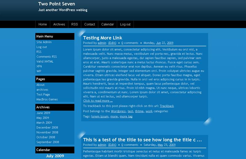 ExpressionBlue free wordpress theme
