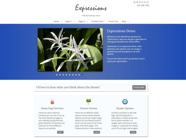 Expressions free wordpress theme