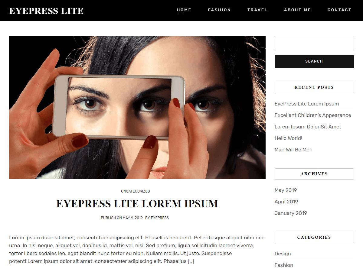 WordPress主题:Eyepress Lite