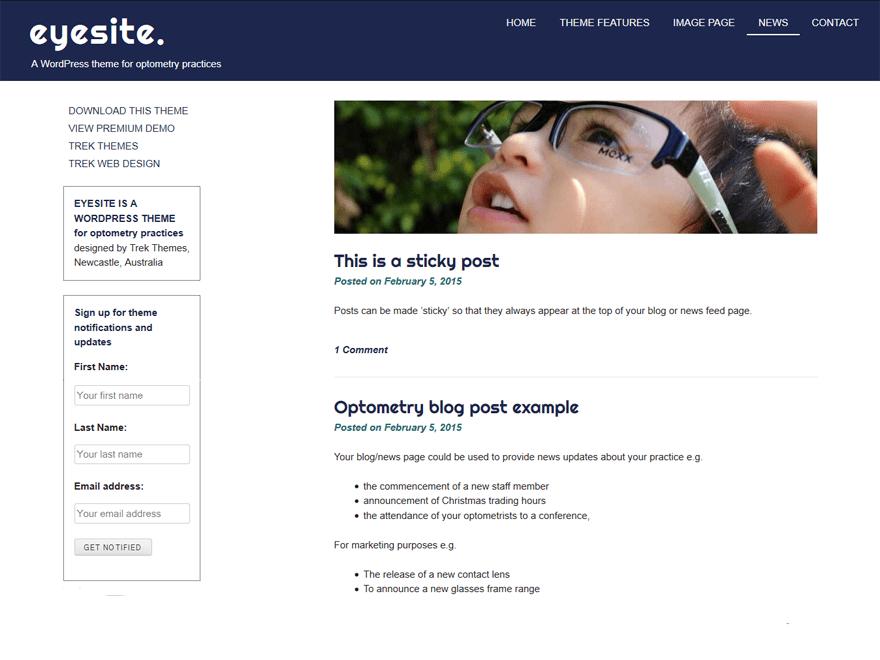 eyesite — Free WordPress Themes