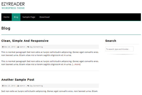 EzyReader free wordpress theme