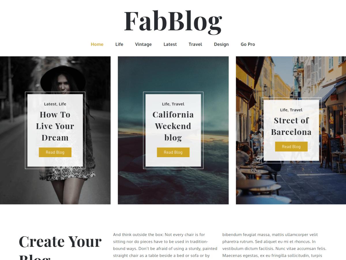 WordPress主题:FabBlog