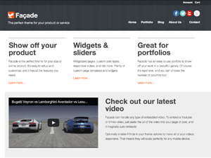 Facade free wordpress theme