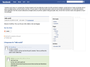 FacebookWB free wordpress theme