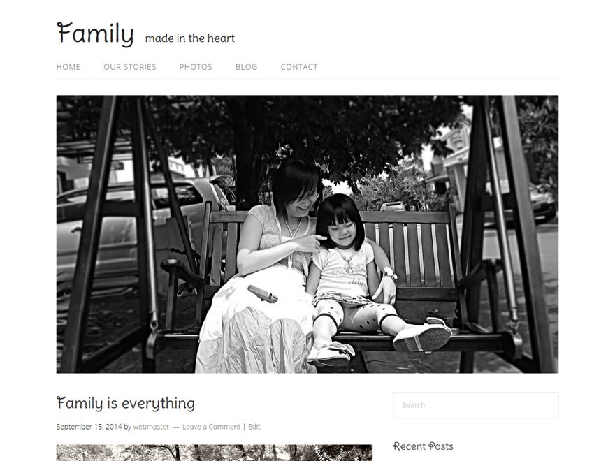famille theme wordpress gratuit