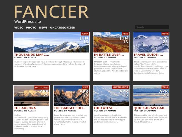 Fancier free wordpress theme