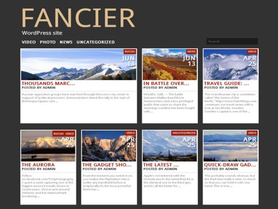 Fancier wordpress theme
