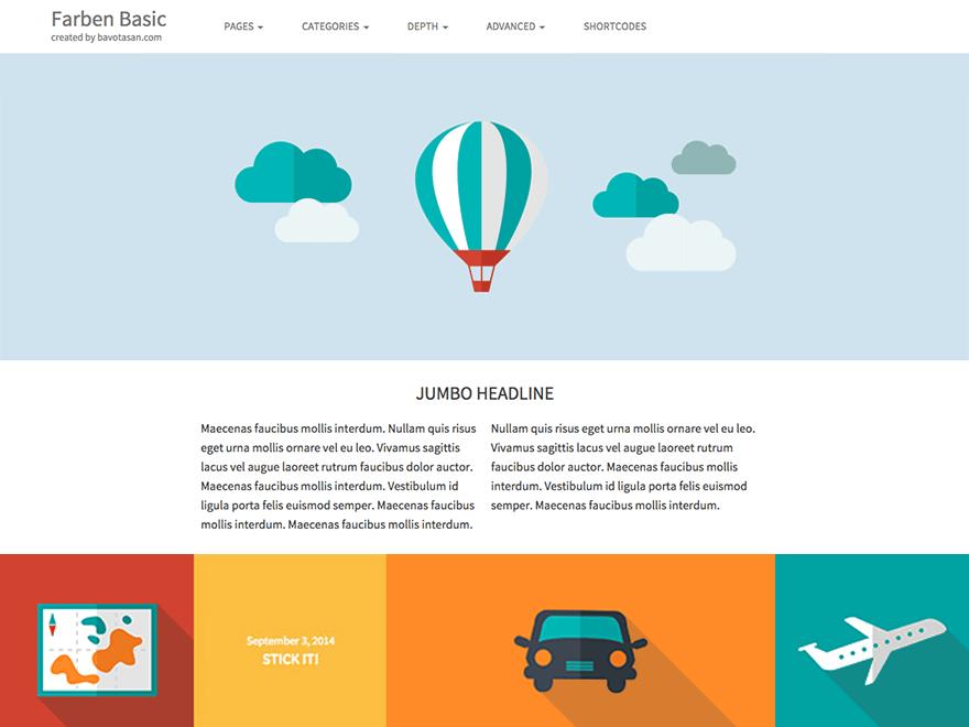 Farben Basic theme wordpress gratuit