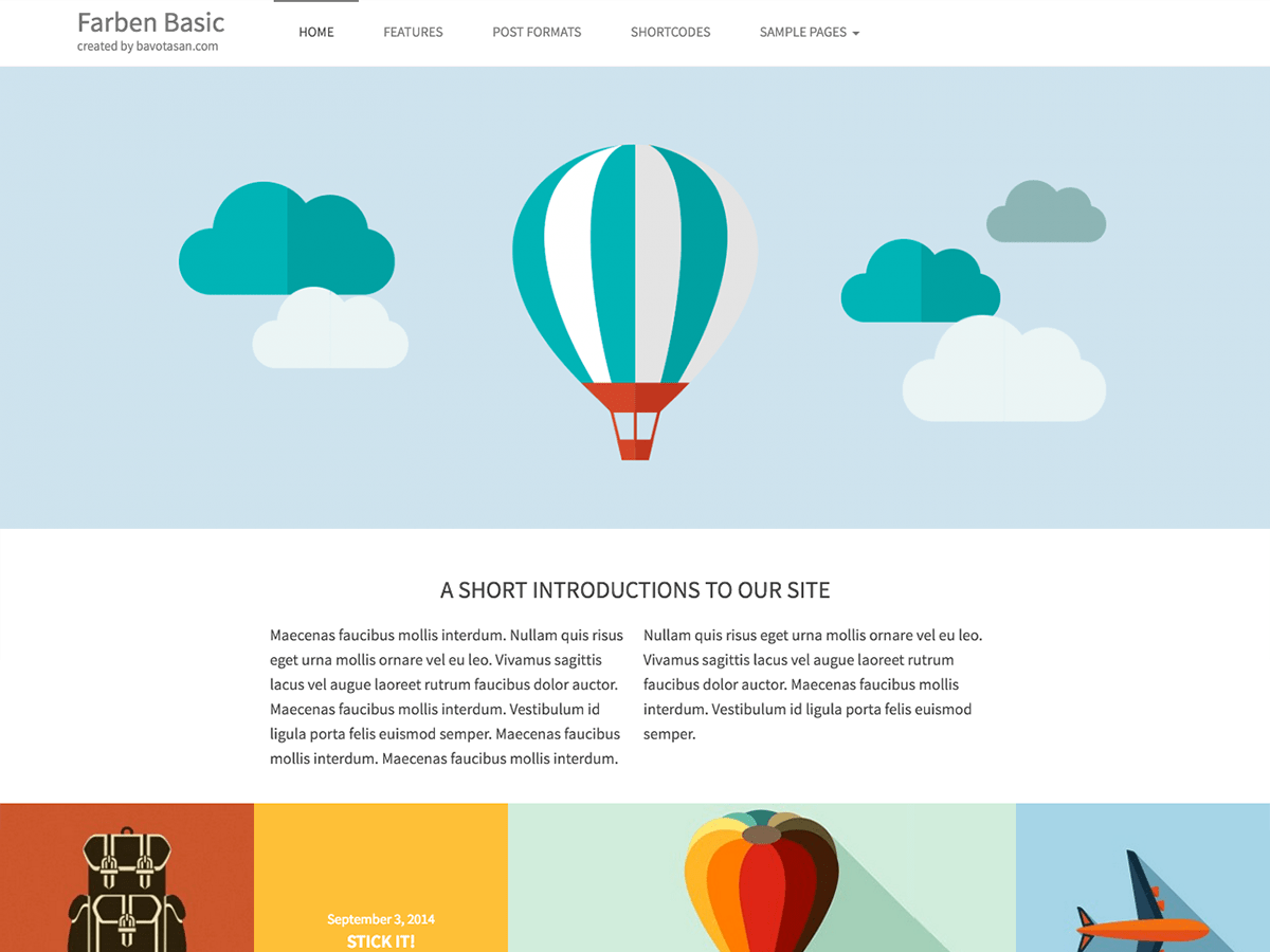 Farben Basic wordpress theme