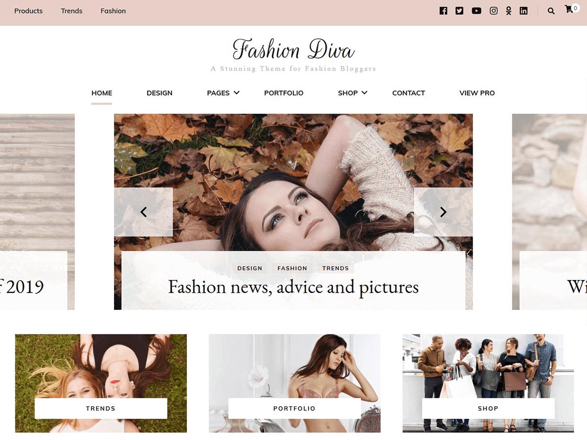 WordPress主题:Fashion Diva