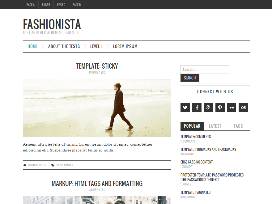 Fashionistas free wordpress theme
