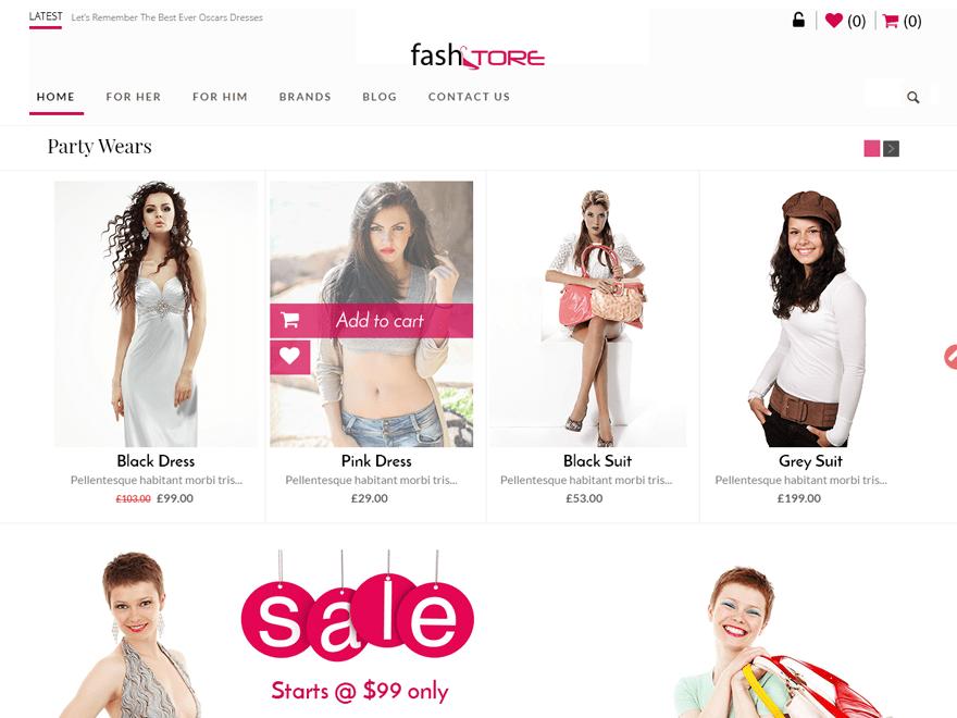 FashStore free wordpress theme