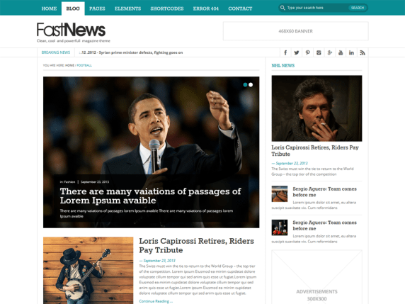 FastNews Light wordpress theme
