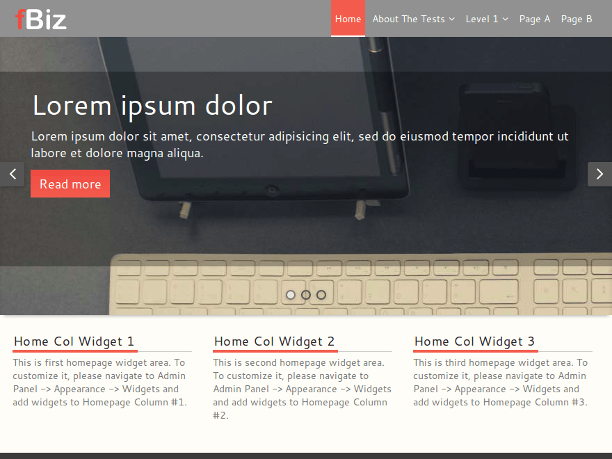 fBiz free wordpress theme
