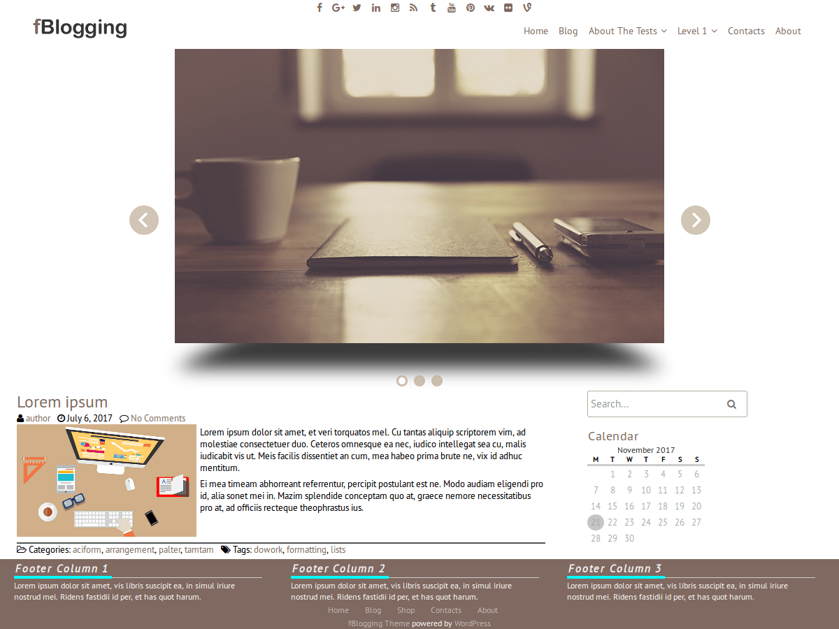 fBlogging free wordpress theme