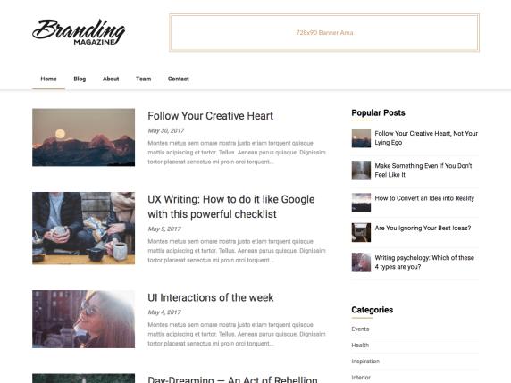 Feather Magazine | WordPress.org