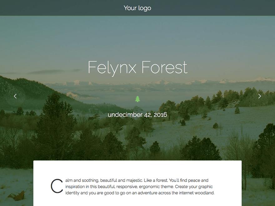 Felynx Forest theme wordpress gratuit